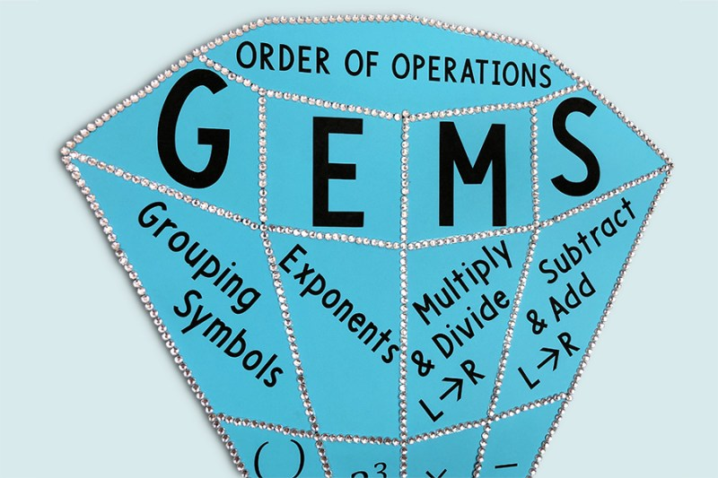 This GEMS Order of Operations poster is a must-have for any 5th, 6th, 7th., or 8th grade math classroom!  This eye-catching poster will help your middle school or upper elementary math class learn the order of operations using the GEMS method!
