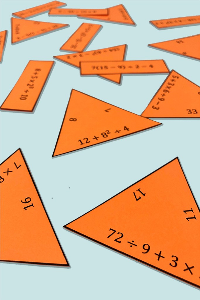 This is a fun and engaging way for your upper elementary math students to practice the order of operations and common core standard 6.EE.A.1!  Students LOVE puzzles.  This is a no prep math activity!
