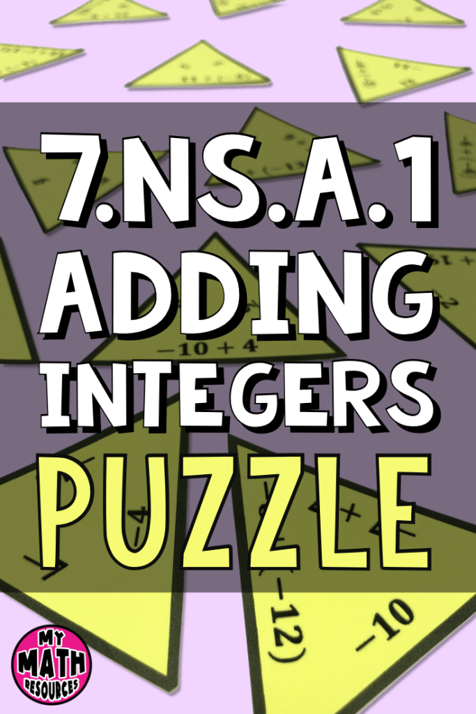 This middle school math puzzle is a fun and interactive way for your middle school math class to practice adding integers.  Help them practice core standard CCSS 7.NS.A.1!  More fun than a boring worksheet!