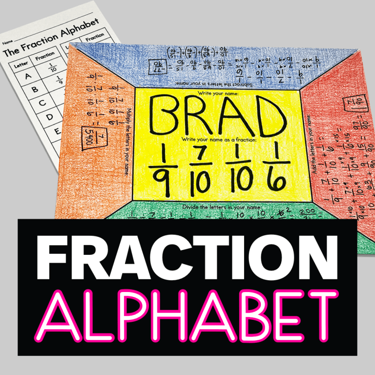 Are you looking for a unique way to practice fraction operations?  Try this fraction alphabet!  Your 5th or 6th grade math class is sure to love this!