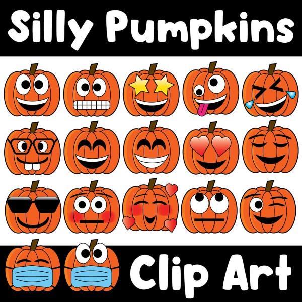 Pumpkin Emojis Clip Art