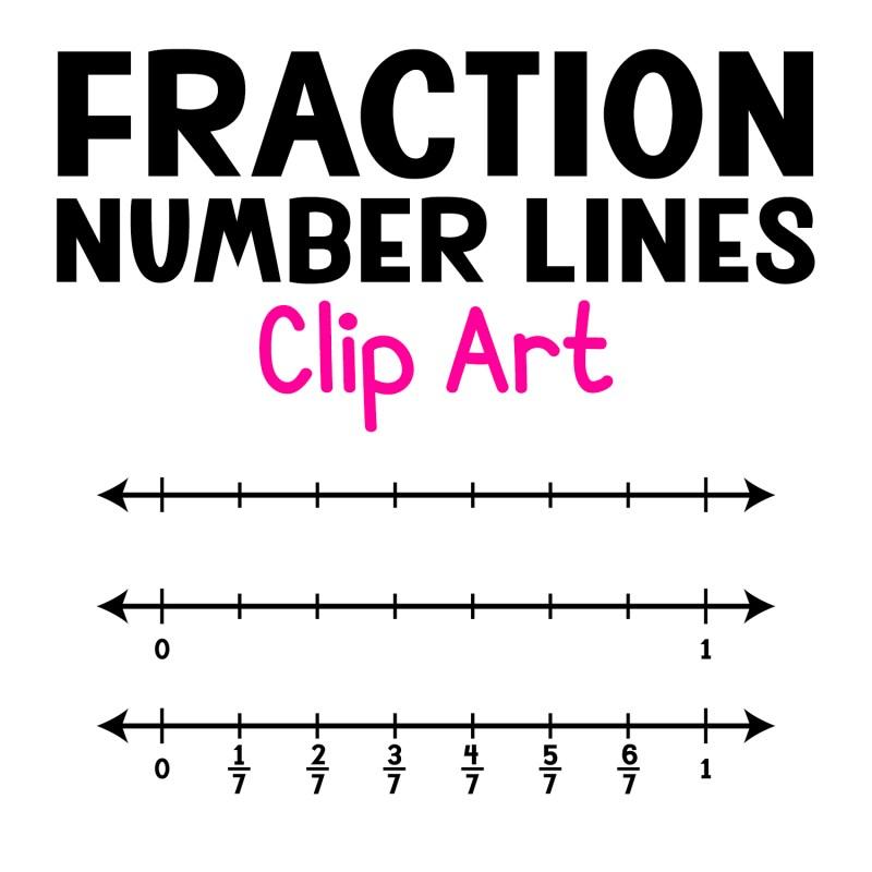 Fraction Number Lines Clip Art