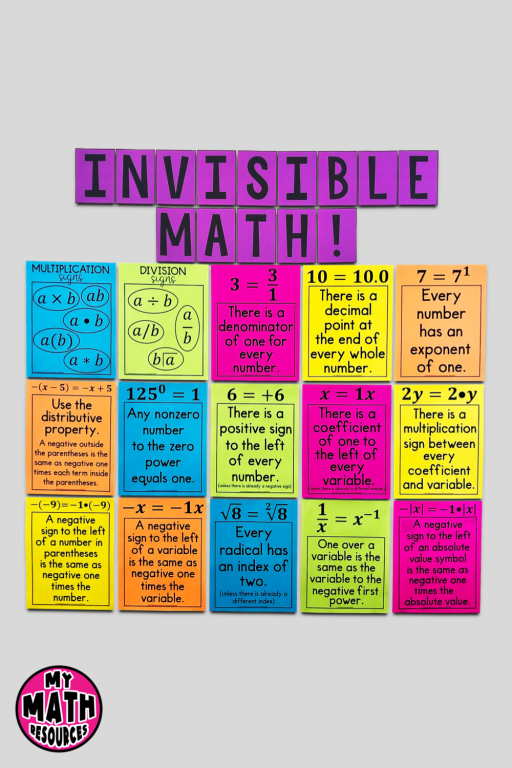 Invisible Math vertical posters