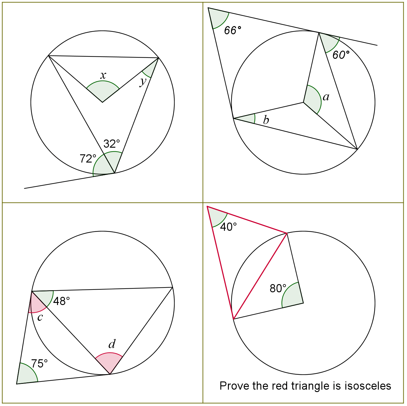 Geometry Circles Questions And Answers
