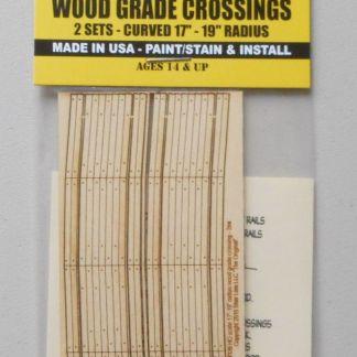 Wood Grade Crossings Curved 17-19 HO SCALE TRAIN LAYOUT DIORAMA BLAIR LINE  126