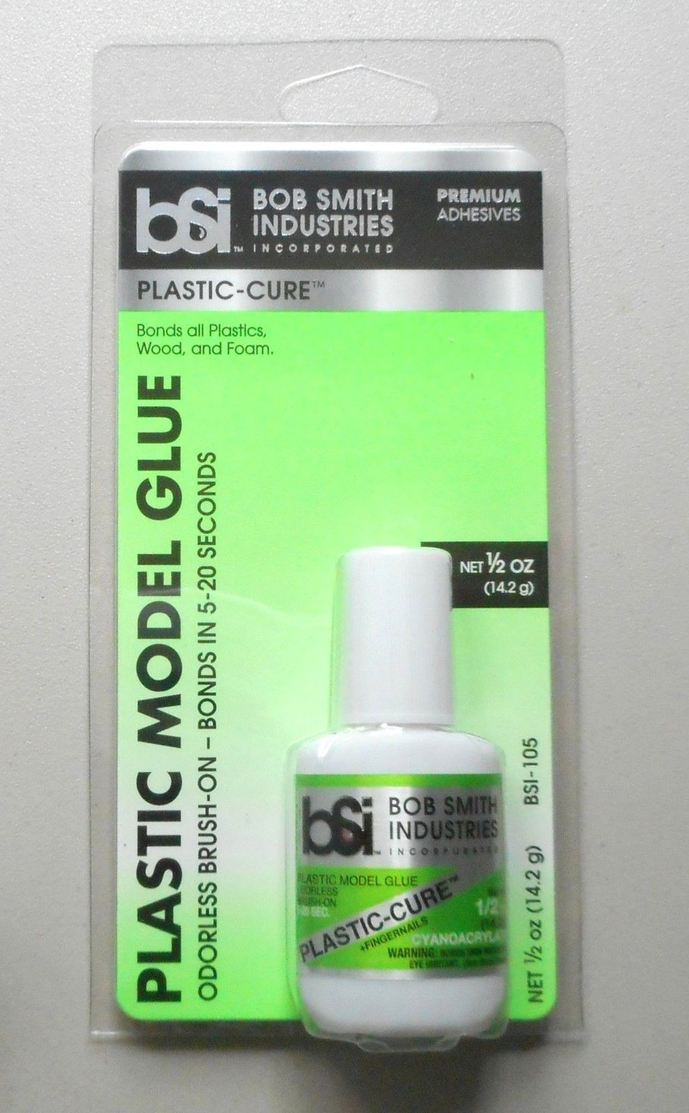 Plastic-Cure Brush-On Gap Filling CA Glue  5oz HOBBY MODELING ACCESSORY BSI  105