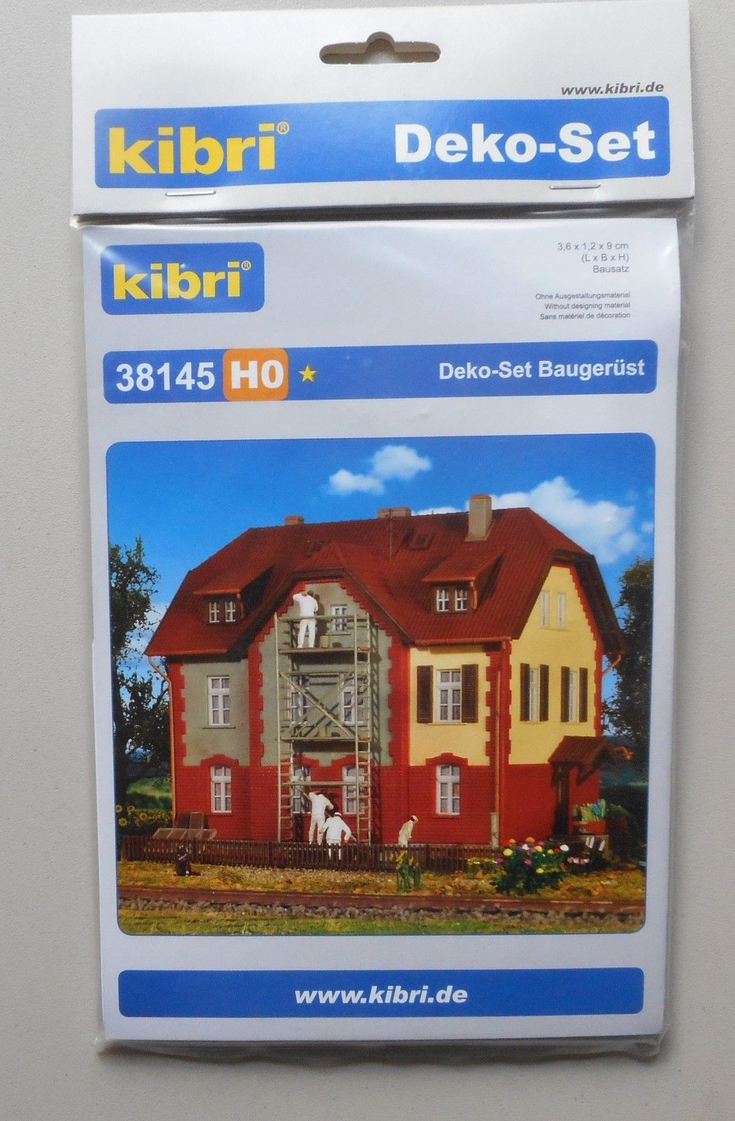 Kibri Kit 38145 NEW HO DECORATION SET SCAFFOLDING