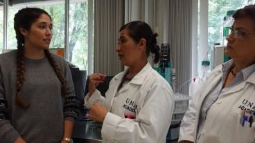 Visiting customers at UNAM