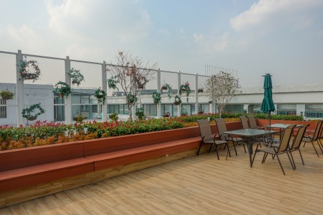 Rooftop at Shanghai office