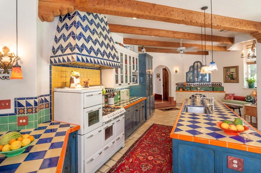 mexican talavera tile for a kitchen