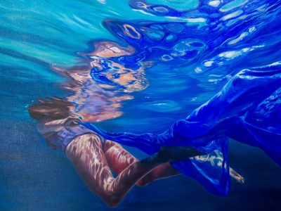 Electric Blue, oil on canvas 2017, Mia Laing
