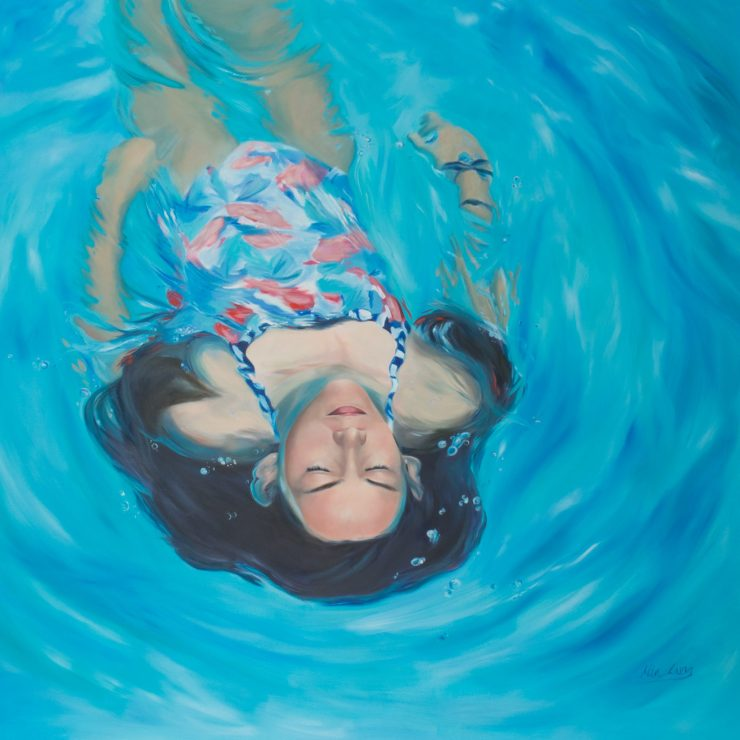 """'Breathing Space' oil on canvas 2015 36x36"""" / 91x91cm copyright Mia Laing 2015"""