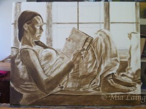 Raw Umber Underpainting - untitled