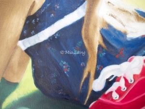 work in progress painting detail