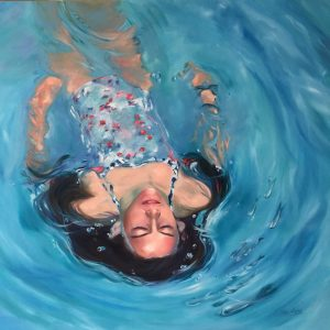 breathing space, oil painting, mia laing
