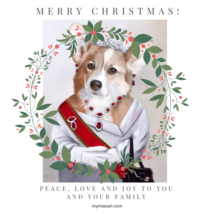Merry Christmas Corgi from Mia Laing