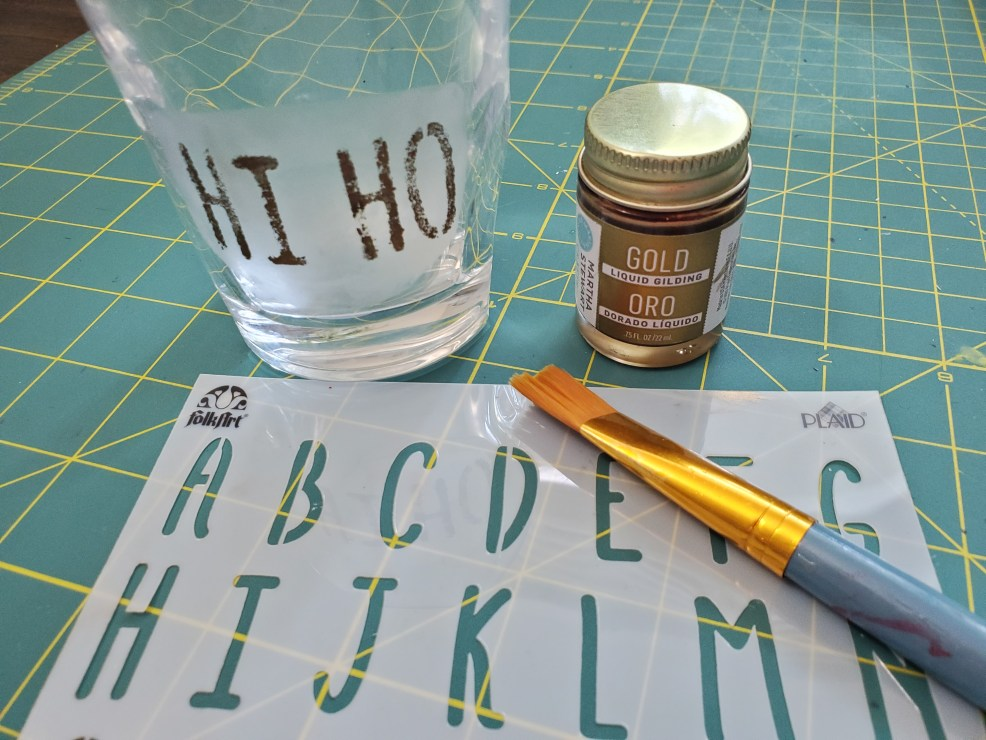 guilding paint and stencil