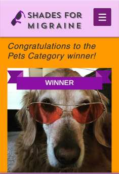 Shades for migraine pets category winner