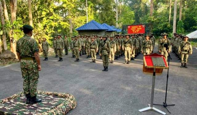 PASAK BUMI witnessed by HQ 12 Bde COS, LTC Mohamad Zambari bin Hj Abdul Khorid.