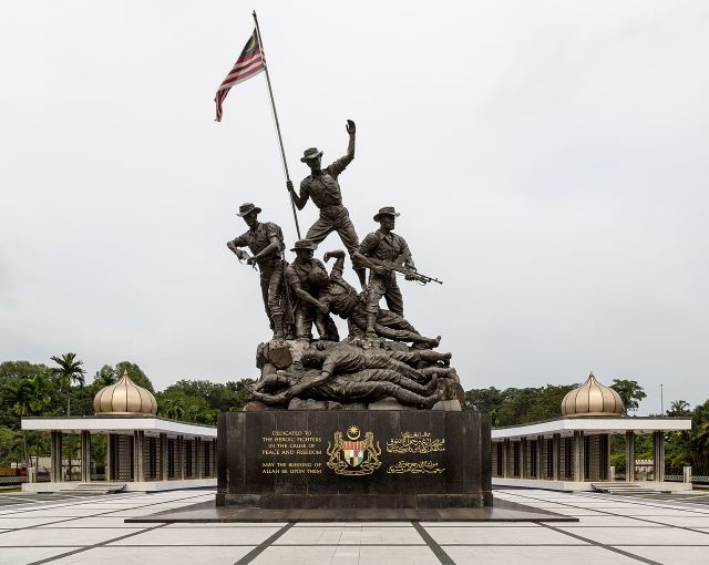 National Monument - Commemorating Malaysian military sacrifices during the struggle for freedom.