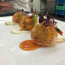 Shrimp wrapped crab cake