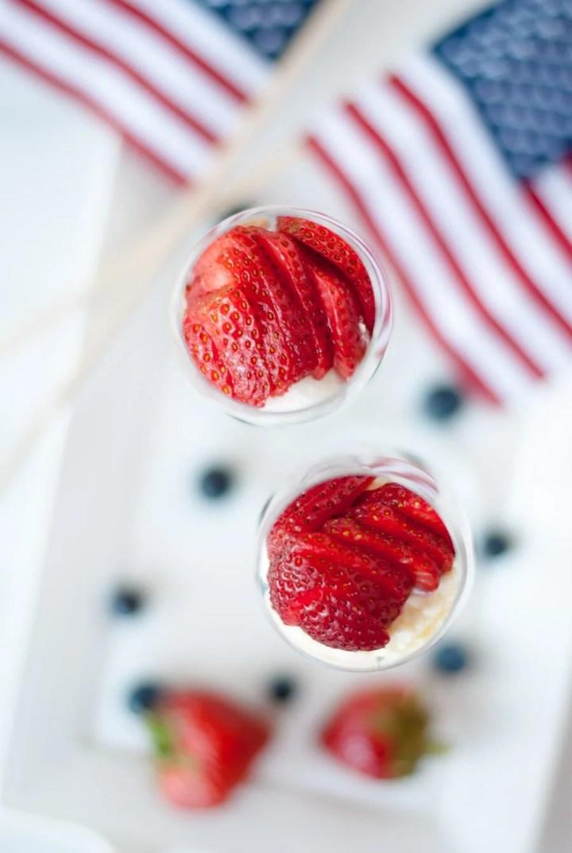 Patriotic Dessert Parfait with Summer Berries & Lemon Zest Whipped Cream