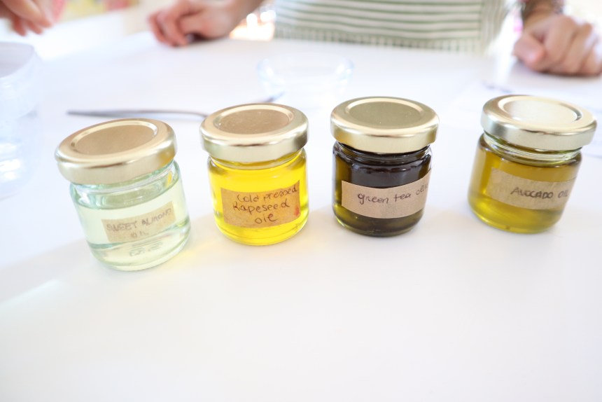 small bottles of oil for beauty products