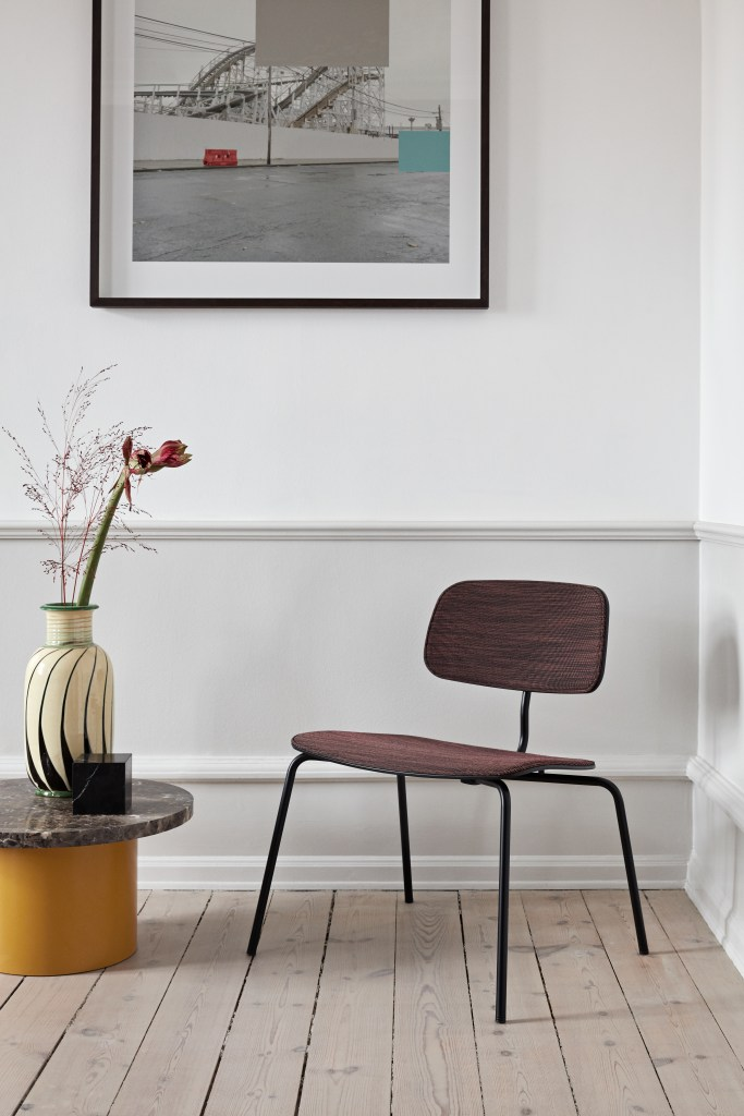 minimalist chair perfect for corner of a room with clean lines and wide seating area by engelbrechts
