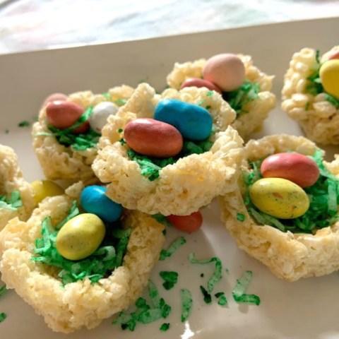 Rice Krispie Treat Easter Nests