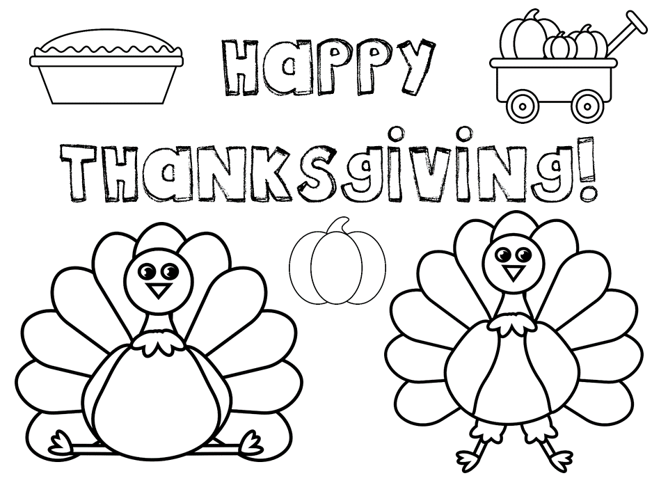 Thanksgiving Coloring Pages- Free Printables! - My Mini ...
