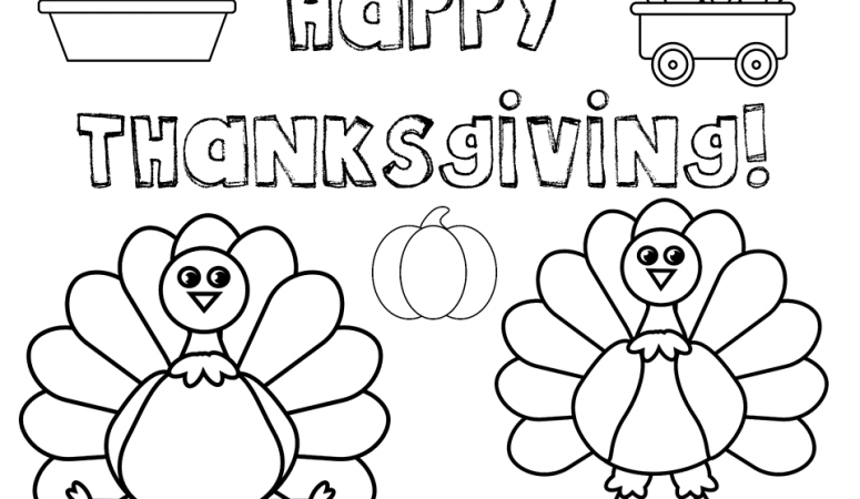 Thanksgiving Coloring Pages- Free Printables!