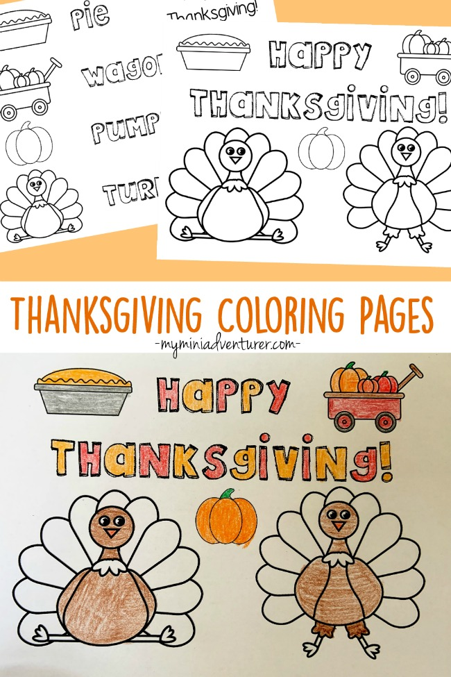 Thanksgiving Coloring Pages- Free Printables! - My Mini Adventurer