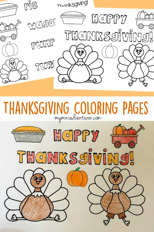Thanksgiving Coloring Pages Free Printables My Mini