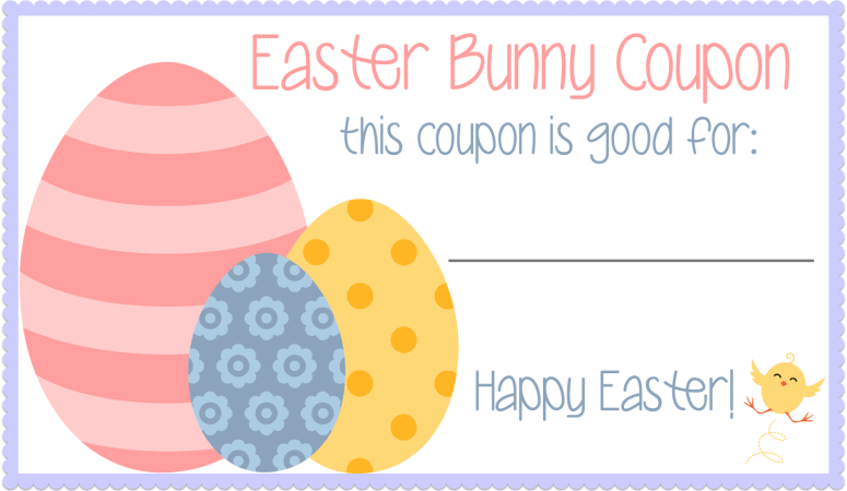 Easter Bunny Coupons- Free Printable!