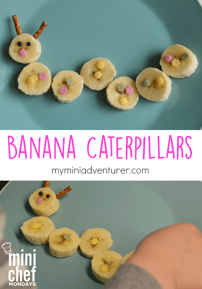 easy and cute banana caterpillar snack!