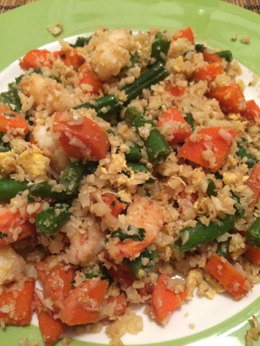 shrimp with cauliflower rice