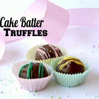 Cake Batter Truffles (No Bake Cake Balls from Scratch)