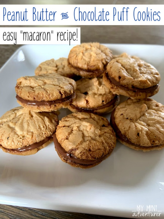 Easy Macaron Recipe: Peanut Butter Chocolate Sandwich