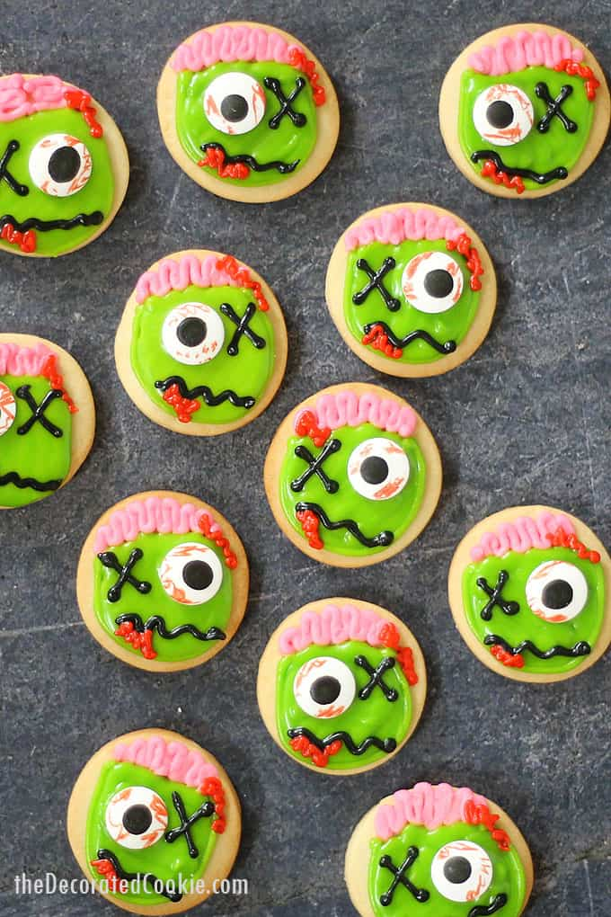 ZOMBIE COOKIES: Fun Halloween party treat with video how-tos.