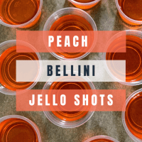 Peach Bellini Jello Shots