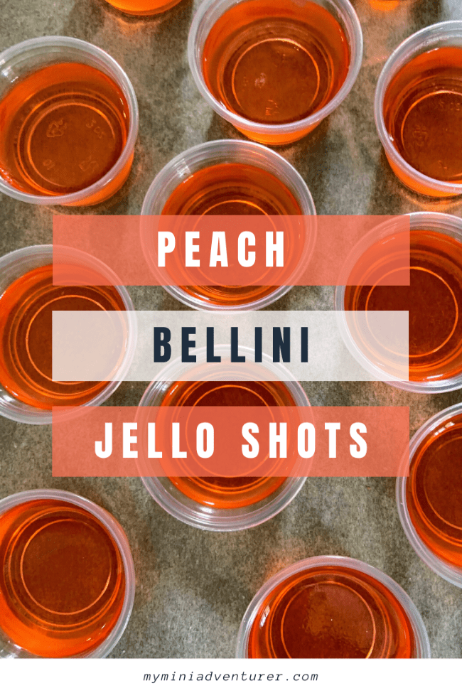 Peach Bellini Jello Shots