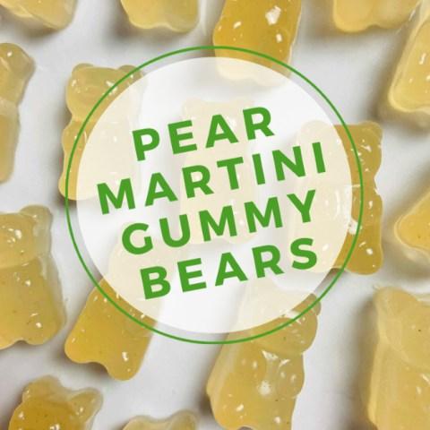 Pear Martini Boozy Gummy Bears