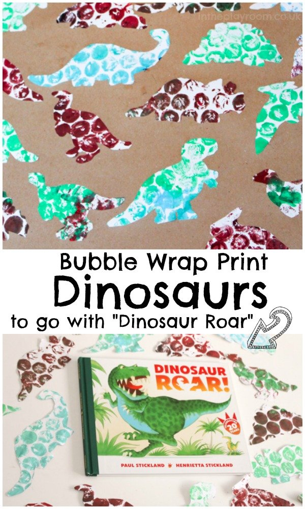 Bubble Wrap Print Dinosaurs to go with Dinosaur Roar