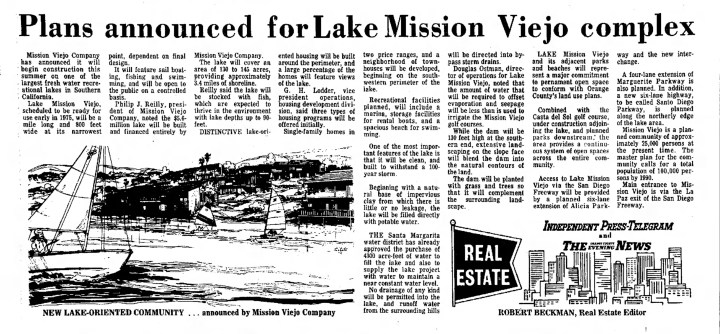 Lake Mission Viejo Plans in Mission Viejo