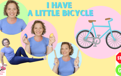 PRESCHOOL BICYCLE SONG | I Have A Little Bicycle | Movement Song