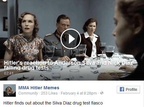 Hitler's reaction to Anderson Silva and Nick Diaz failing drug tests