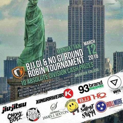 Grappling Industries Debuts in Manhattan Saturday, March 12, 2016