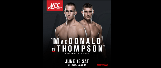 UFC debuts in Ottawa with MacDonald vs Thompson