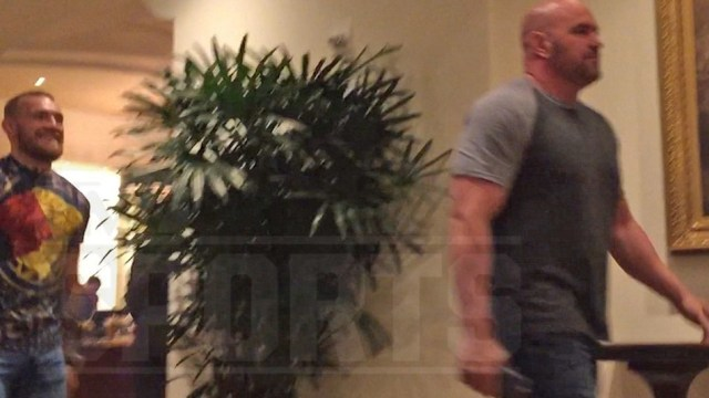 Conor McGregor and Dana White hold private meeting
