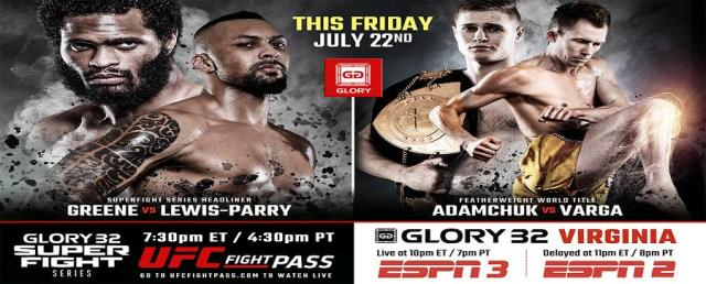 GLORY 32 Virginia & GLORY 32 Superfight Series Weigh-in Results